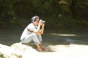 Lord Byron at the Mantayupan Falls, Barili, Cebu, Phil.